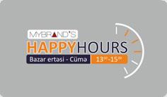 MYBRAND´S mağazalar şəbəkəsində Happy Hours aksiyası başlamışdır